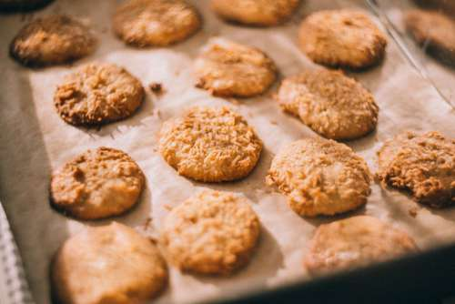 Homemade Cookies Oven Tray Free Photo