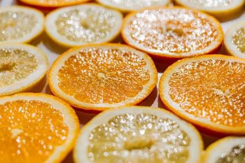 Oranges Lemons Slices Fresh Free Photo
