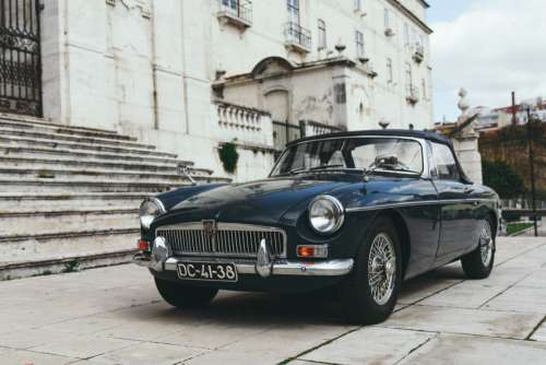 Classic Black MG Convertible Car Free Photo
