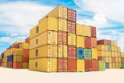Colorful Shipping Containers Free Photo