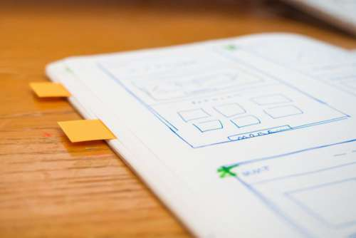 Sketch Wireframe Web Design Notes Free Photo