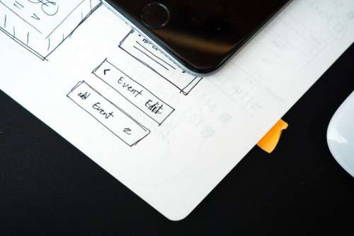 Wireframe Web Design iPhone Mouse Free Photo