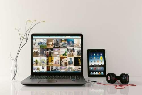 iPad Laptop Beats Headphones Free Photo