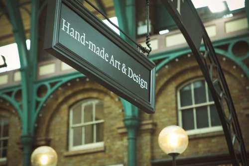 Hand Made Art Design Sign Free Photo