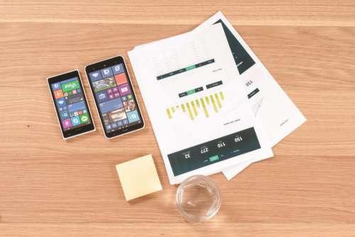 Windows Phone & Paper Charts Free Photo