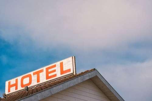 Retro Hotel Sign Free Photo
