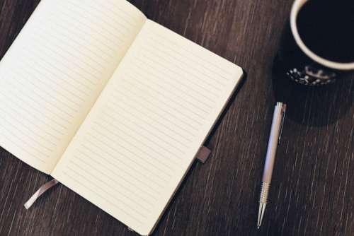 Notepad Pen Coffee Desk Free Photo