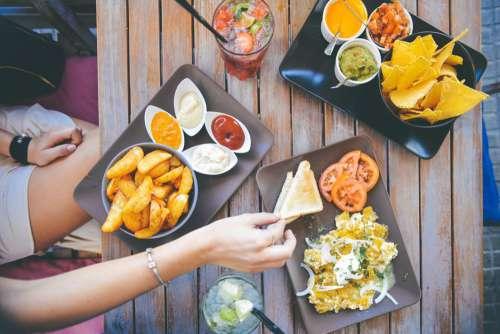 Food Platters Beach Restaurant Free Photo