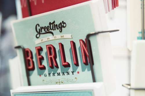 Greetings Cards from Berlin Germany Free Photo