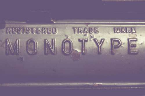 Monotype Metal Sign Typography Free Photo