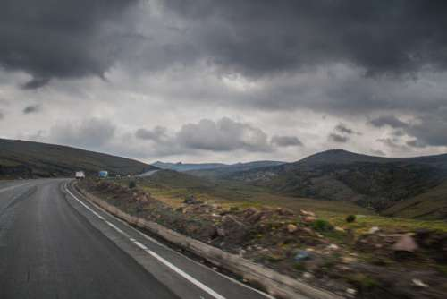 Road Clouds Mountain Car Free Photo