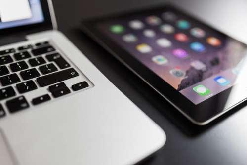 MacBook and iPad Free Photo