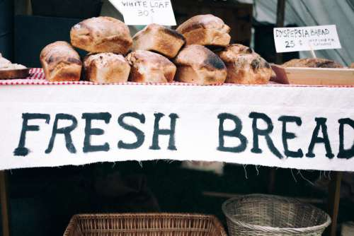 Fresh Bread Rustic Sign Free Photo