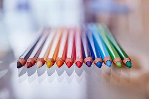 Multi-Colored Pencils Free Photo