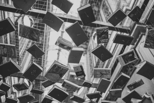 Books Sculpture Modern Art Free Photo