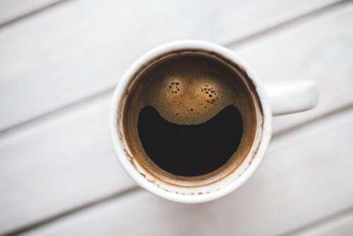 Mug of Happy Coffee Free Photo