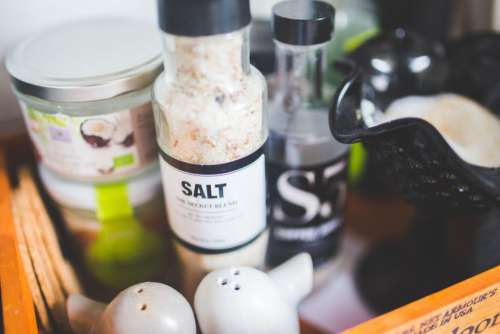Salt and Cooking Condiments Free Photo