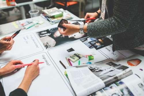 Working on Print Magazine Free Photo