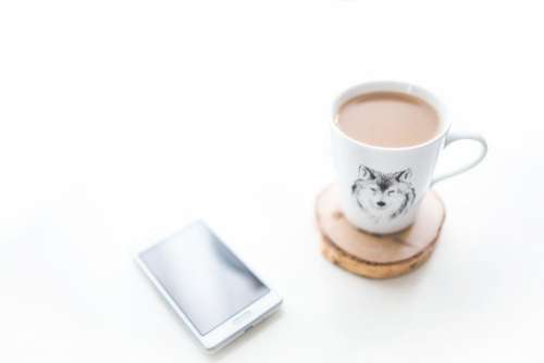 Cup of Tea and Mobile Free Photo