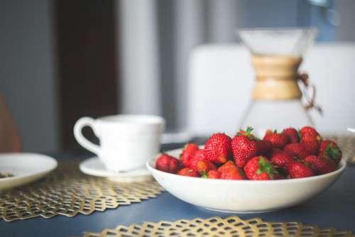 Fresh Organic Strawberries Free Photo