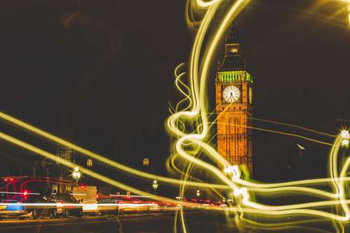 Big Ben Night Lights Free Photo