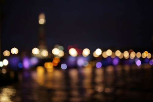 Bokeh Big Ben London Night Free Photo