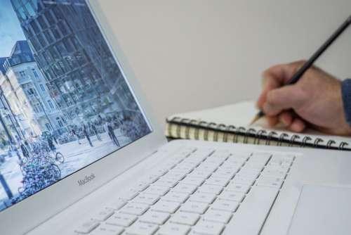 Man White MacBook Free Photo