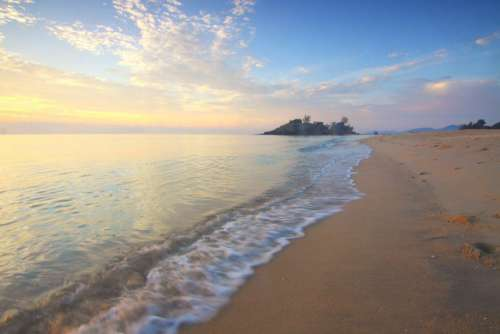 Calm Beach Sunset Free Photo