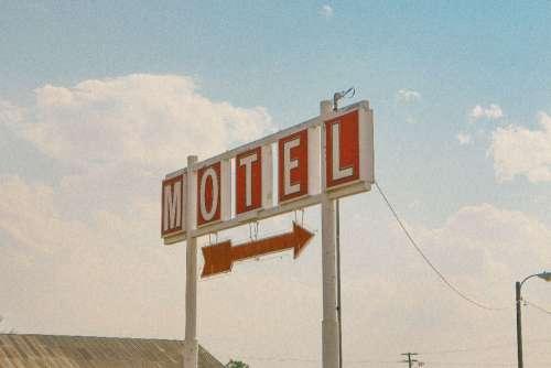 Retro Motel Arrow Sign Free Photo