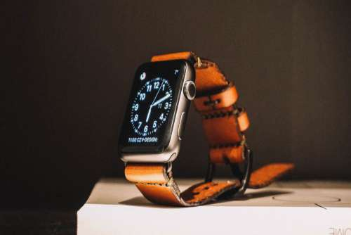 Apple Watch Leather Strap Free Photo
