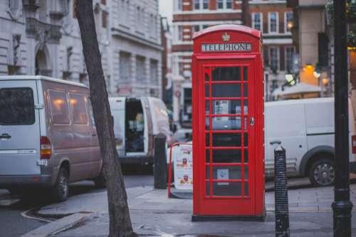 Red Telephone Box London Street Free Photo
