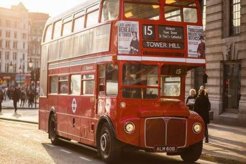 Vintage Red London Bus Free Photo
