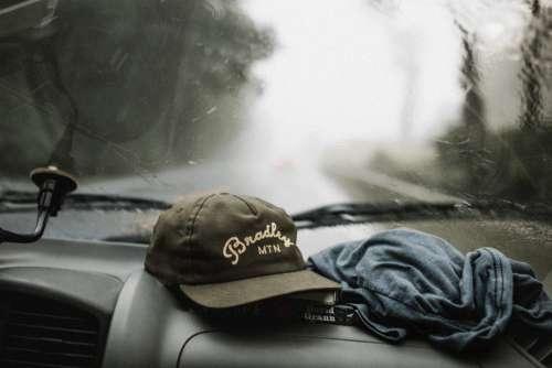 Rain Car Baseball Cap Free Photo