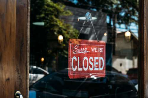 Closed Sign Vintage Glass Door Free Photo