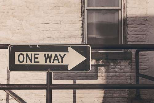 One Way Road Street Sign Free Photo