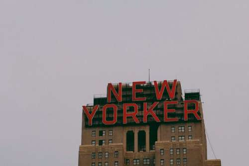 Large New Yorker Sign Free Photo