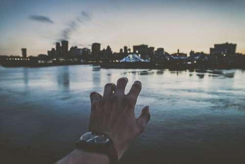 City Lake Hand Watch Free Photo