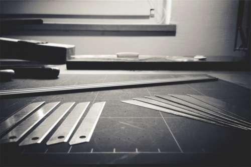 Blueprint Black White Ruler Tools Blade Free Photo