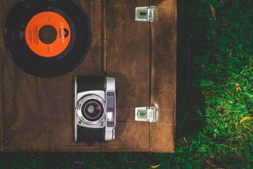 Luggage Camera Vinyl Record Free Photo