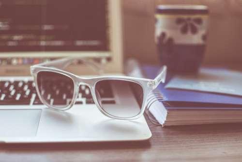 Coffee Cup Sunglasses MacBook Free Photo