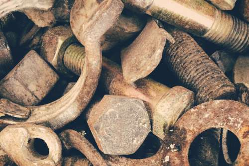 Rusty Nuts Bolts Free Photo