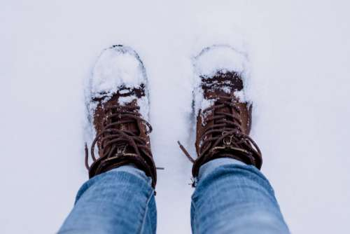 Snow Boots Jeans Man Free Photo