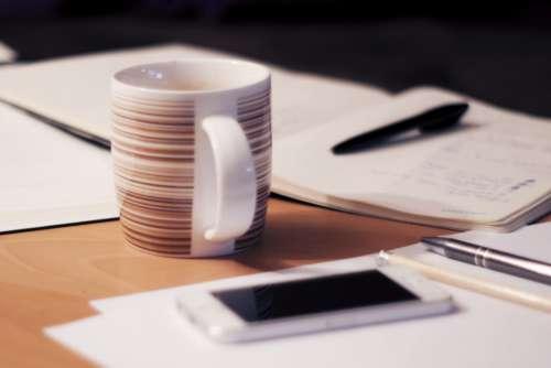 Office Desk Coffee Documents Free Photo