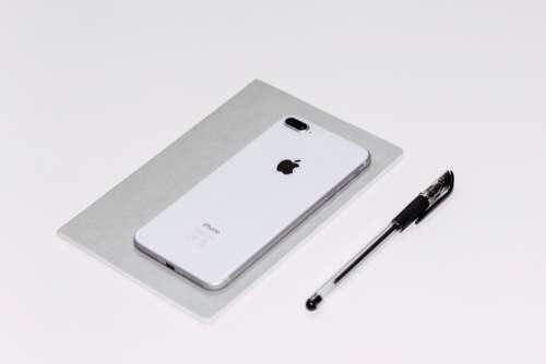 iPhone White Pen Minimal Free Photo