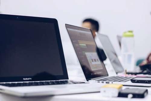 MacBook Laptop Desk Office Free Photo
