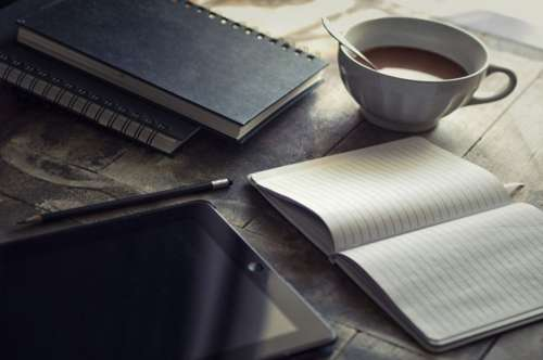 Tea Notepad Desk Free Photo