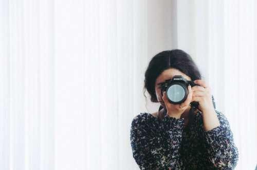 Woman Reflection Canon Camera Photographer Free Photo