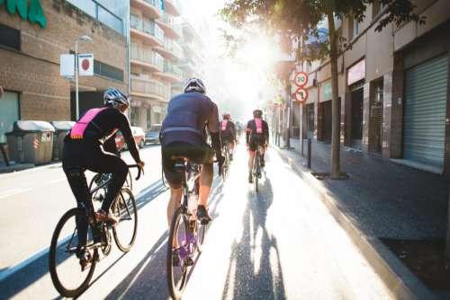 Cycling City Street Free Photo