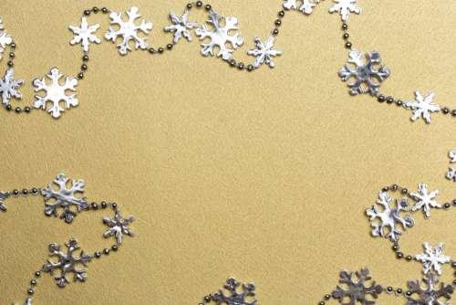 Silver and Gold Snowflakes Free Photo