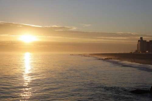 Sunset over Beach Free Photo